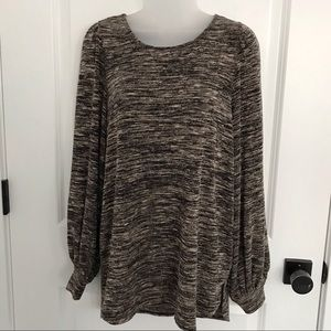 Max Studio Space Dye Puff Sleeve Sweater